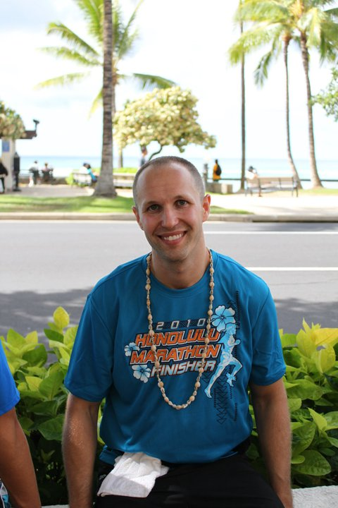 Christopher Taylor, Honolulu Marathon Finisher